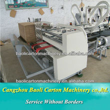 automatic glue chest machine , carton box packaging forming machine