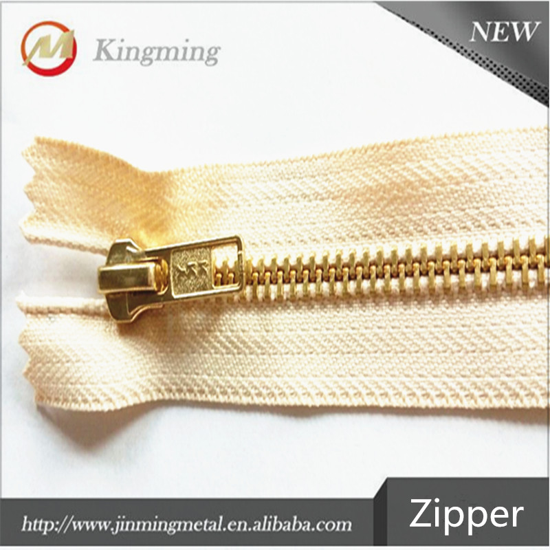 5# Metal Gold Plated Teeth Zipper For Bag