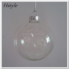 100mm Clear Glass Ball Ornaments SSD115
