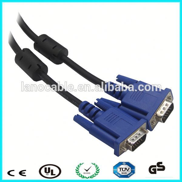 12m 15 pin to 15 pin vga cable with ferrite