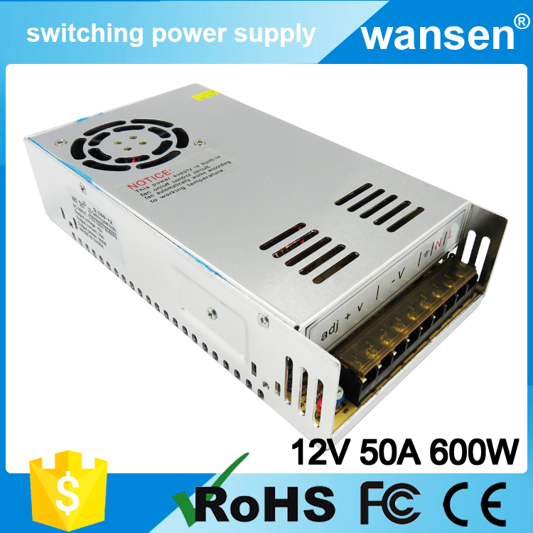 100% Original 600W Single output power supply 12v 50a power supply