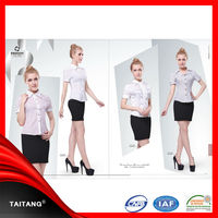 China supplier women ladies latest office uniform style design for wholesale