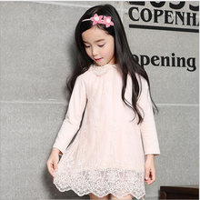 beautiful new fashion lace cute gril princess dress