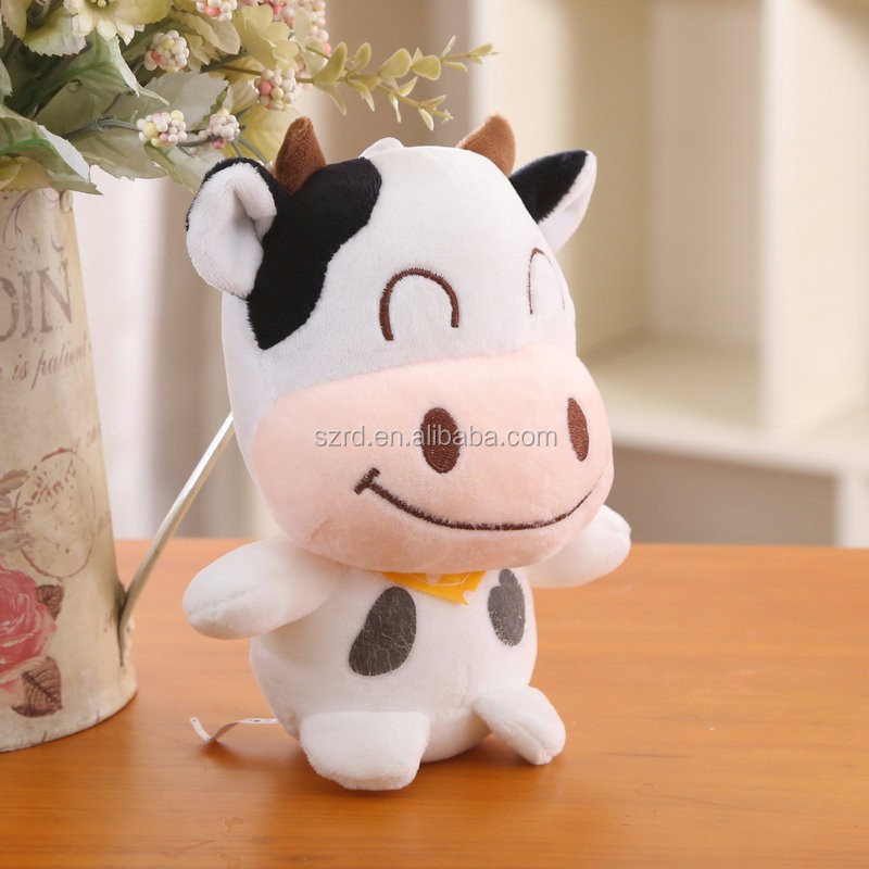 funny gift plush toys/plush cow animal doll/cheap price soft toy