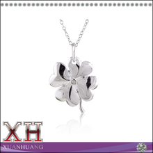Custom Jewelry Silver Four Leaf Flower Egyptian Style Necklace