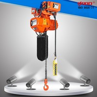 Fixed and traveling type electric chain hoist for lifting concrete