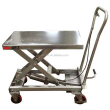 Stainless Steel Hydraulic Scissor Lift Table Truck