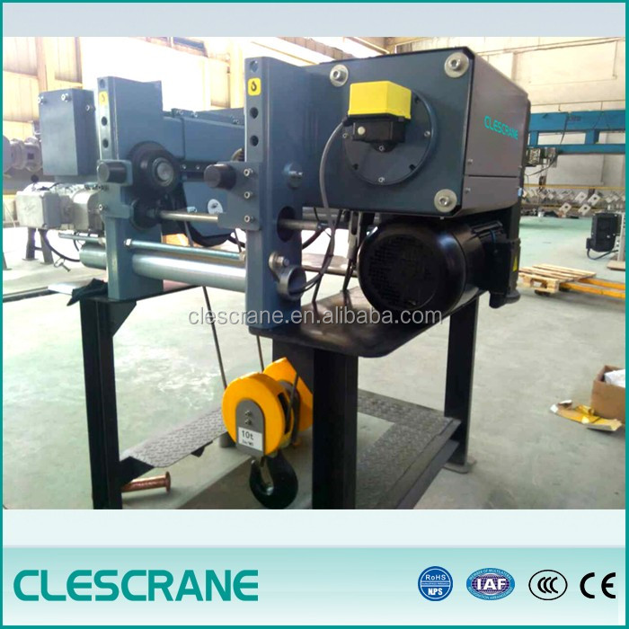overhead travelling wire rope hoist 5 ton for single girder crane