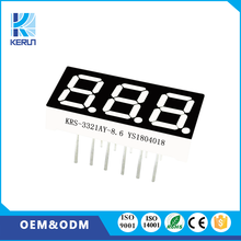 Hot selling new products common anode yellow color 0.32 inch 3 digit 7 segment led display