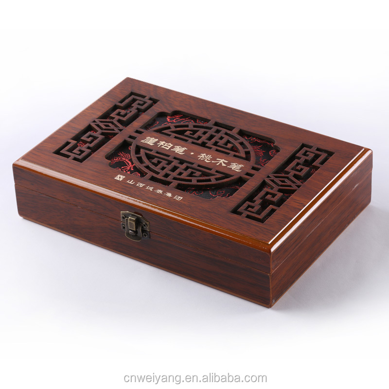 Customized lazer engraved lid wooden gift box jewelry box