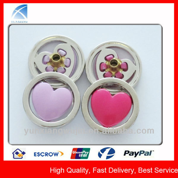 YX4704 Design Fancy Heart Snap Buttons for Children