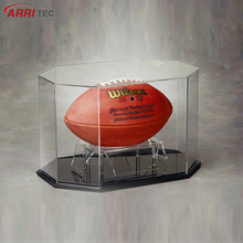 acrylic case display for football soccer acrylic football display box