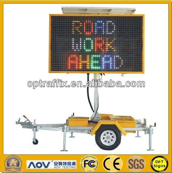 Solar Powered Battery Powered Led Message Board Australian C Size 5 Color 2600*1600mm