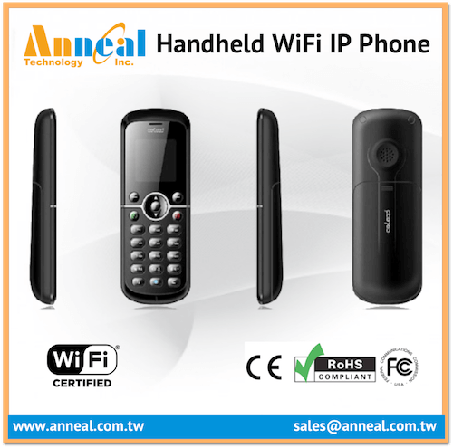 Slim Compact Stylish Wireless Cordless Handheld VoIP SIP WiFi IP Phone