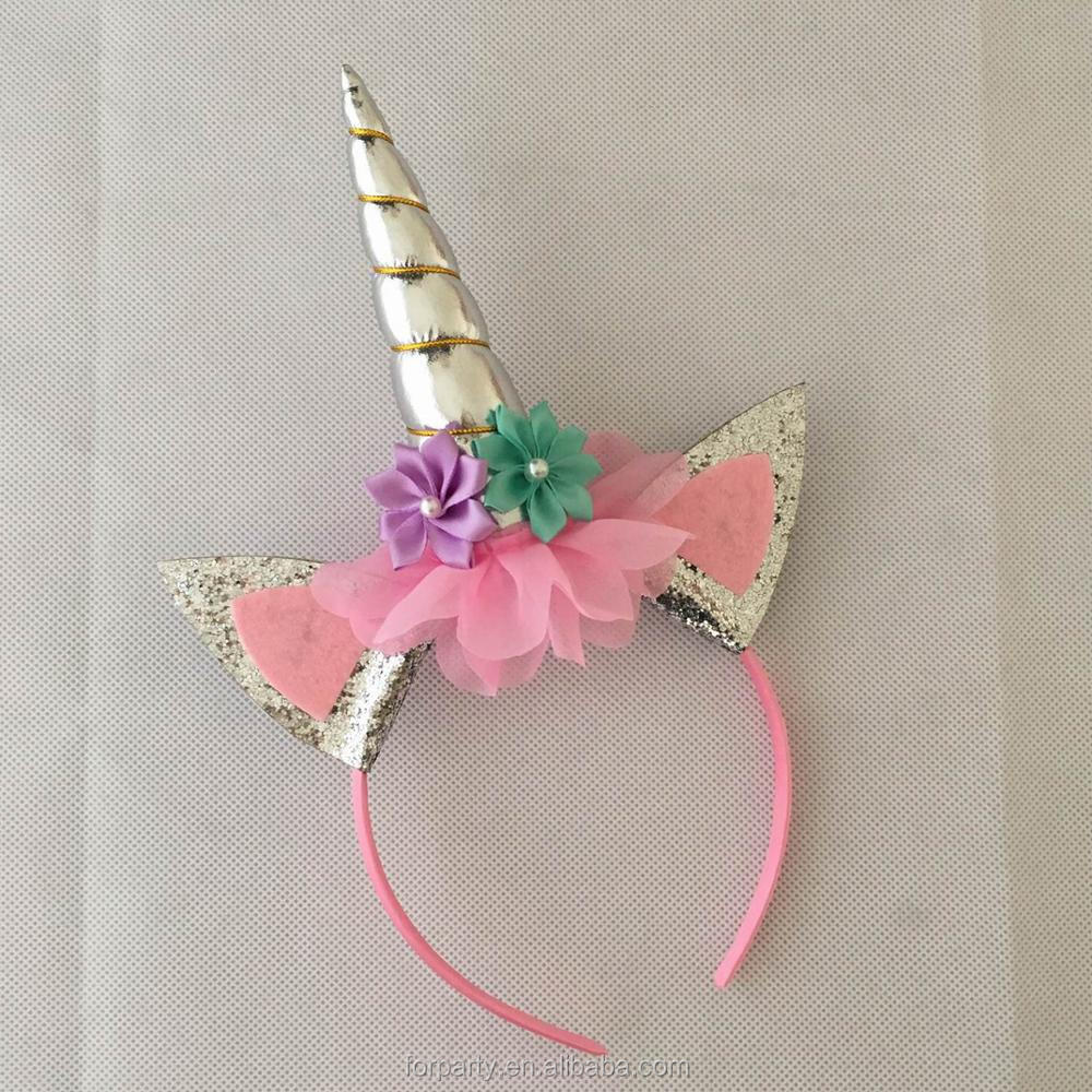 HBN-DJS1711 Children unicorn headband Fashion unicorn headband <strong>hair</strong> <strong>accessories</strong> for girls and kids