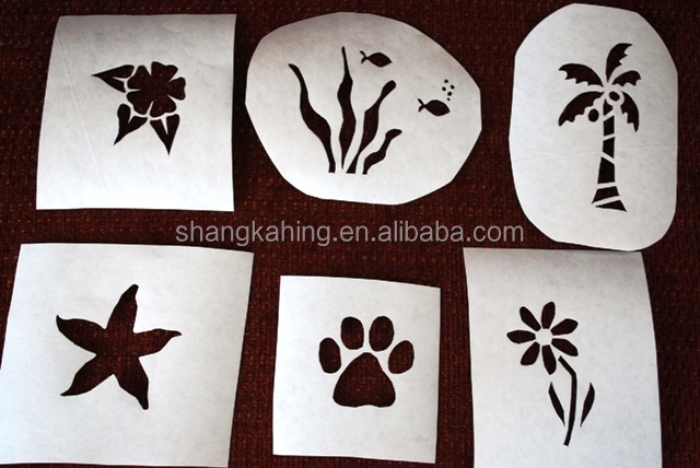 custom crafty DIY white or kraft paper drawing stenciling art templates stencil for kids or adult from professional manufacture