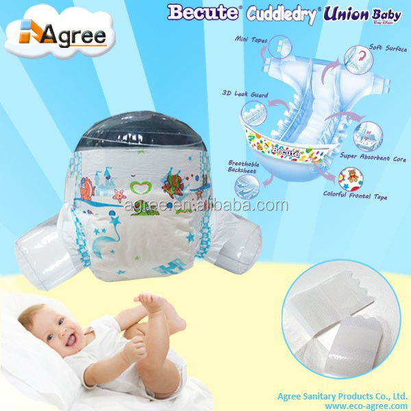 Export ultra thin disposable sleepy baby diapers with low price manufacture in China