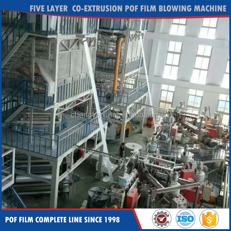 Five Layer Co-Extrusion Pof Film Blowing Machine