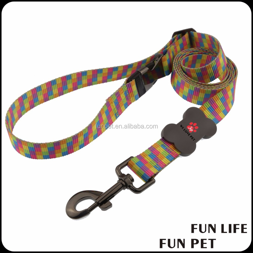 custom Pet Supplies colorful lanyard Dog Leash heat transfer