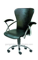 Cheap black leather swivel short back office chairAB-23
