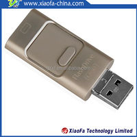 factory price 3 in 1 otg usb flash for mobile phone and ipad and micro usb