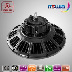 5 years warranty and Meanwell driver 110LM/W dimmable 150w ufo led high bay light