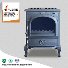 China supplier HiFlame HF717B wood burning stove with cast iron back boiler