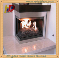 Clear Glass Ceramics For Fireplace Glass, Indoor Fireplace With Glass, Indoor Round Fireplace Glass Door