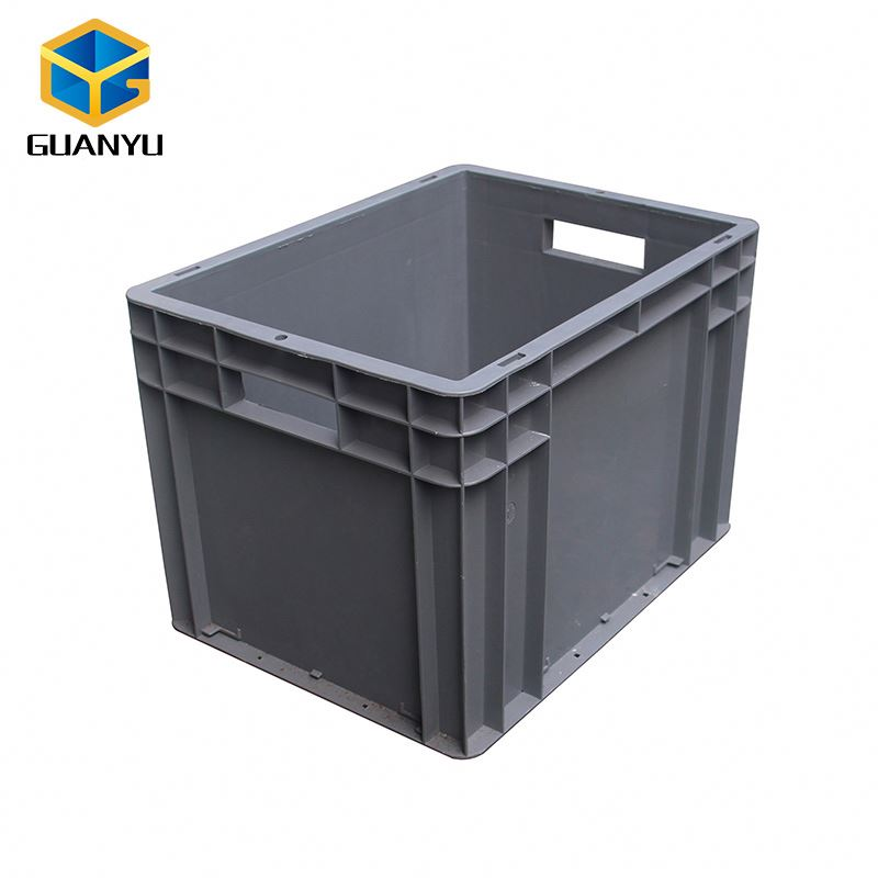 Whole Sales Low Price Food Grade Plastic Gray EURO STACKING CONTAINER for Warehouse