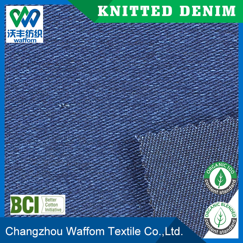 knitted cotton strenth twill denim fabric for women dress