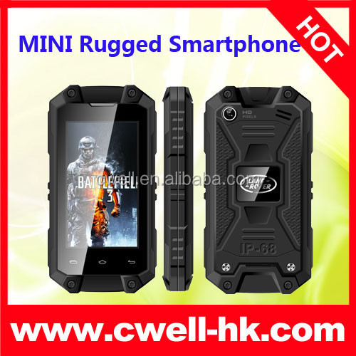 Cheap Waterproof Smartphone Mini J5 Android IP54 Waterproof MTK6572W Dual Core Rugged Cell Phones
