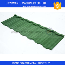 CE Certified seven wave classical stone coated steel roofing tile With Long-term Service
