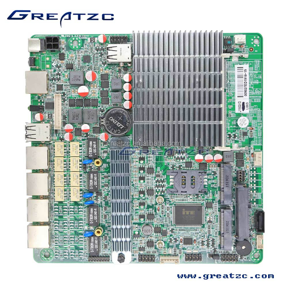 ZC-BT194L J1900 MINI ITX 4 LAN Motherboard, Firewall Mainboard With 4 Ethernet Ports Motherboard
