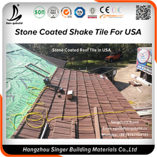 Sangobuild Linyi Shandong stone coated aluminum metal roof tiles in Guangzhou price