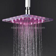 Bathroom top round led shower head no battery