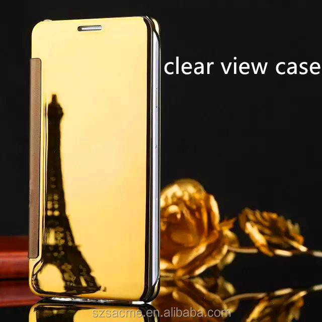 Mirror Smart View Clear Flip Phone Case Cover For lg g6 Clear View Case