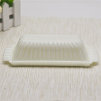 Vintage milk glss butter dish with lid factory price