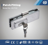 HD P40 Lock Patch fitting glass clamp for glass door