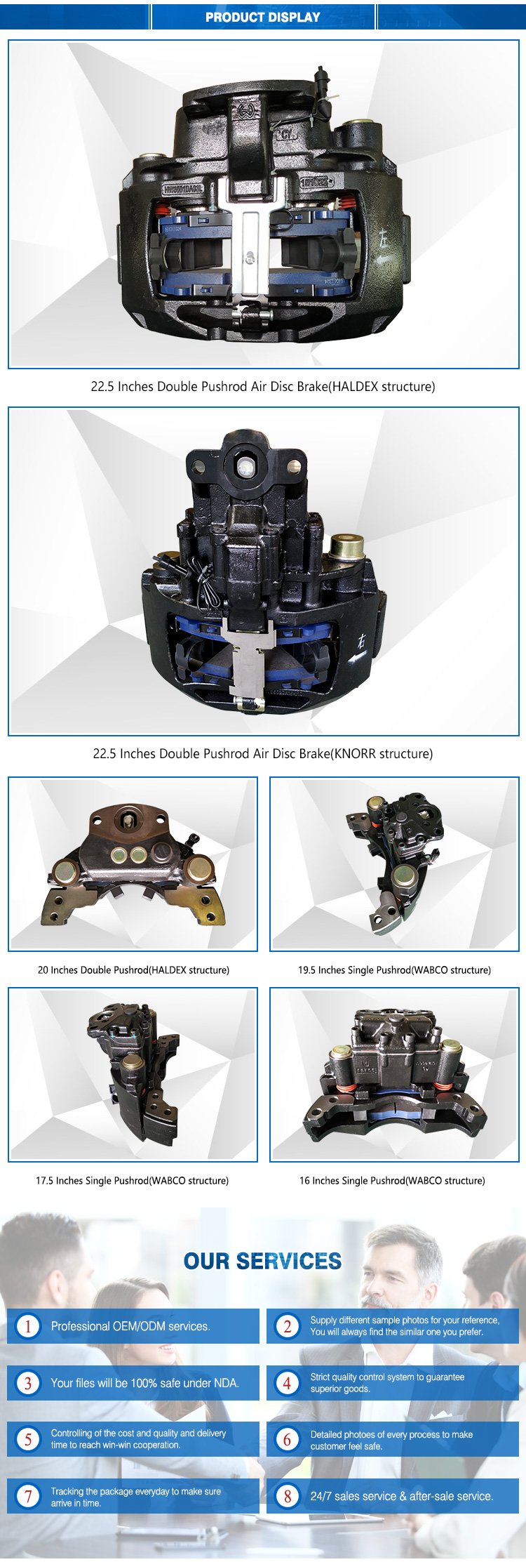 Disc Brake(including brake caliper and brake pad) for mack parts truck wholesale