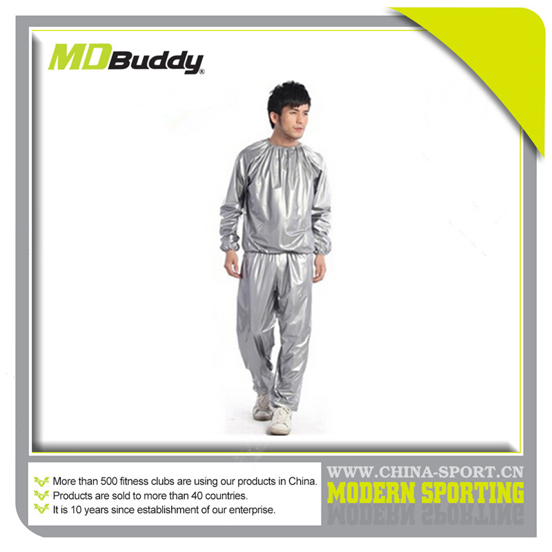 Disposable clear plastic fitness gym exercise sauna suit