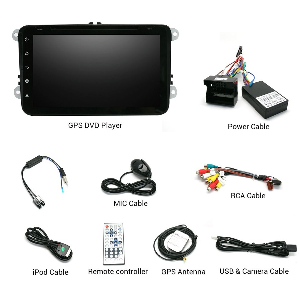 car dvd player for VW SANTANA 2013 with GPS Bluetooth WIFI 3G Multimedia Free SD Card HD 1080P Car Stereo Android 4.4