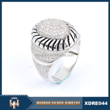 2016 Turkish mirco pave setting custom gay ring for men