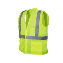 Hi-vis Mesh safety vest with Pockets Conforms to ANSI/ISEA, Class2
