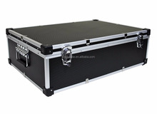 Black Aluminum 1000 CD DVD DJ Flight Case With Numbered Sleeves