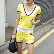 Hot summer sport t shirt short set