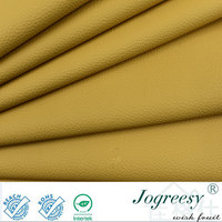 Yellow Mada grain leather for car seat