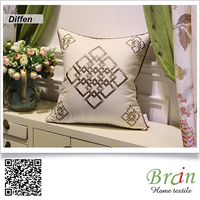 Decorative pillow, sofa cushion,cushion to sleep, Linen Fabric embroidery Cushion Cover