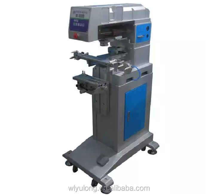 logo printing machine 1color pad printing machine with cleaning head equipment
