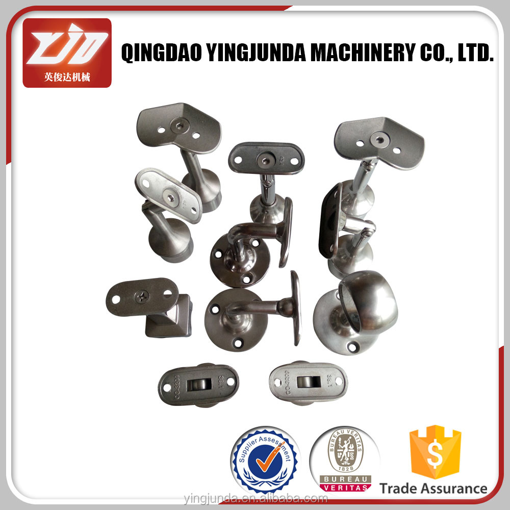 stainless steel railings handrail fitting fixed holder support single plate stair handrail bracket supplier