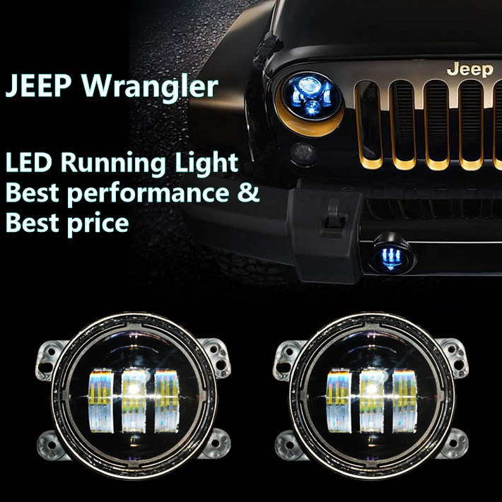 china supplier car accessories 4 inch led fog lamp/mini light for jeep wrangler